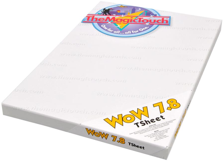 WoW 7.8/100 Tsheet A4 (Термотрансферная бумага для черного и темного текстиля) the magic touch dct 4 5c a4 термотрансферная бумага для твердых поверхностей