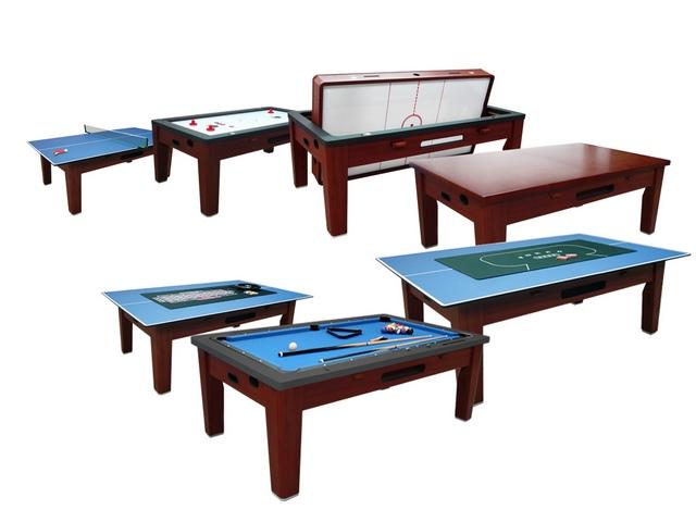 Игровой стол_Многофункциональный Tornado (коричневый, 6 в 1)