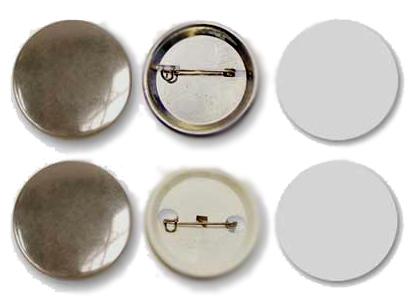 купить Заготовки для значков d25 мм, металл/булавка, 200 шт по цене 2262 рублей
