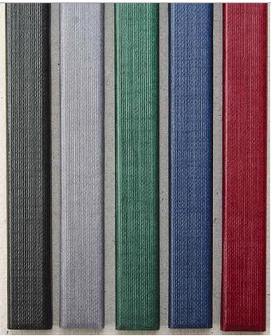 Цветные каналы с покрытием «ткань» O.CHANNEL SLIM А4 304 мм 28 мм, черные