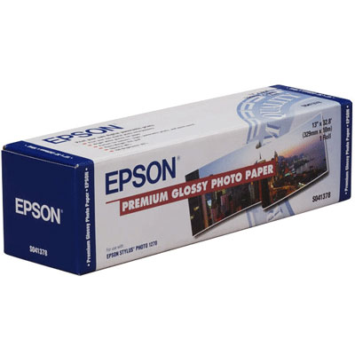 Epson Premium Glossy Photo Paper 16, 406мм х 30.5м (250 г/м2) (C13S041742)