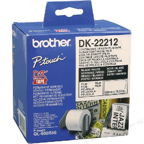 Клеящаяся лента Brother DK22212 этикетки brother dk22212