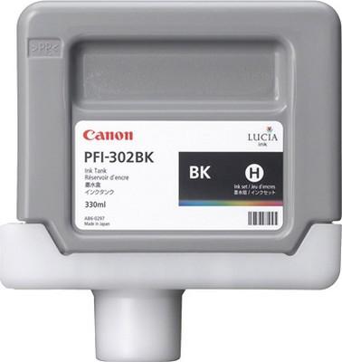 Картридж Canon Black PFI-302BK (черный) пигментный