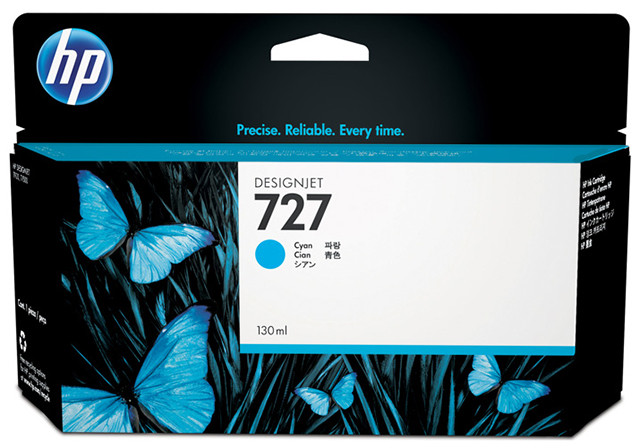 Картридж HP Pigment Ink Cartridge №727 Cyan (B3P19A) картридж hp pigment ink cartridge 70 black z2100 3100 3200 c9449a