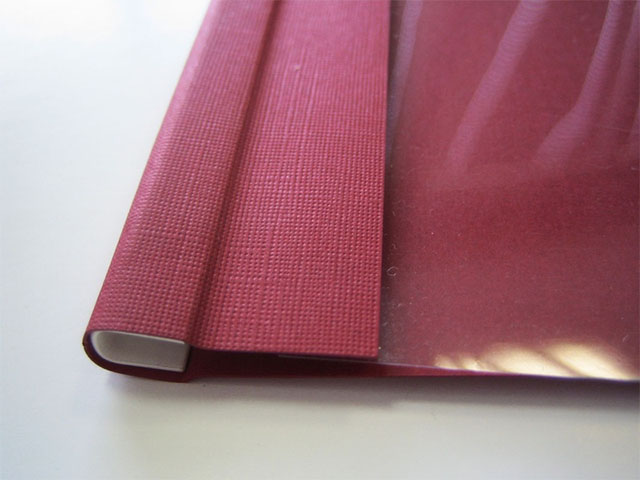Мягкие обложки C-BIND A4 O.SOFTCLEAR C (16 мм) с текстурой «лен», бордо