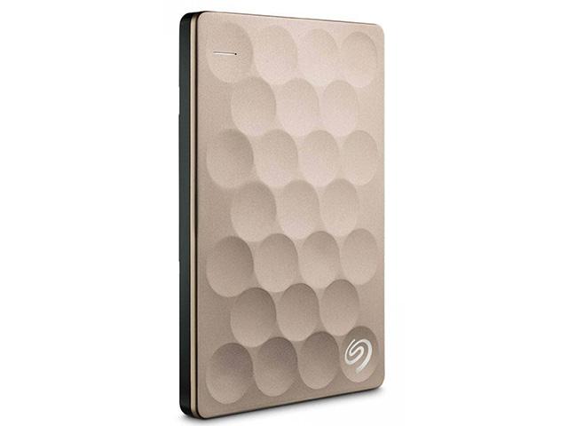 Внешний жесткий диск Seagate Backup Plus Ultra Slim 1 ТБ (STEH1000201), золотистый