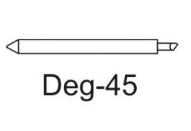Нож Deg-45 для плотных материалов (угол 45) для плоттеров EasiCut, DGI, Mimaki, Gerber, Muton (оригинальный) eurosvet 1091 lozano 1