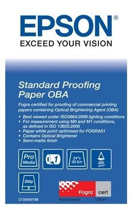 Standard Proofing Paper OBA 24, 610мм х 30.5м (250 г/м2) (C13S450188) standard proofing paper 17 432мм х 50м 205 г м2 c13s045007