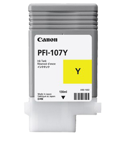Картридж Yellow PFI-107 Y (желтый) картридж cactus cs pfi107mbk black matte 130ml для canon ip ipf670 ipf680 ipf685 ipf770 ipf780 ipf785