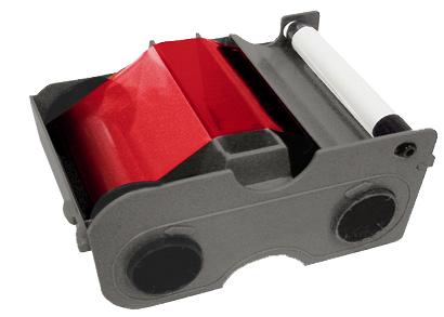 Картридж с лентой и чистящим валиком красная лента   45105
