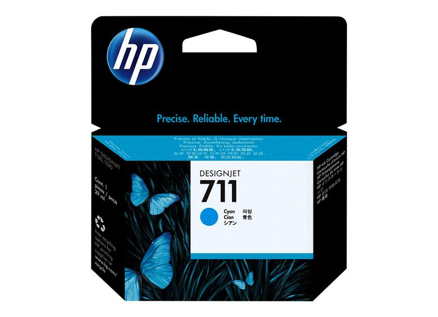 Картридж HP Designjet 711 голубой (Cyan) 29 мл (CZ130A) картридж для струйного принтера hp designjet 711 cyan cz130a