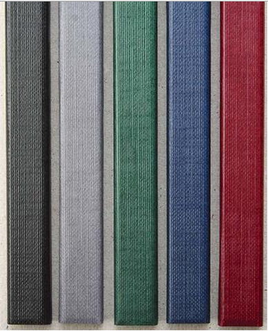Цветные каналы с покрытием «ткань» O.CHANNEL SLIM А4 304 мм 20 мм, бордо