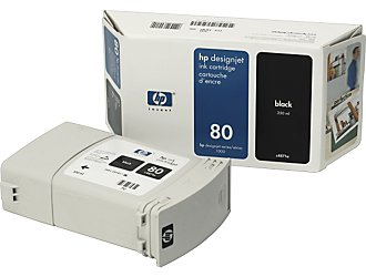 Картридж HP Inkjet Cartridge №80 Black (C4871A) картридж hp голубой cтруйный картридж hp 80 350 мл