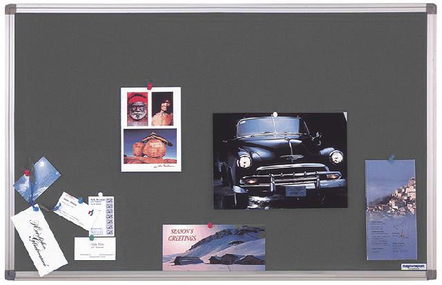 Текстильная доска Magnetoplan 150 x 100 см, серая (1415001)