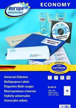 Самоклеящиеся этикетки  Europe100 ELA019 Компания ForOffice 486.000