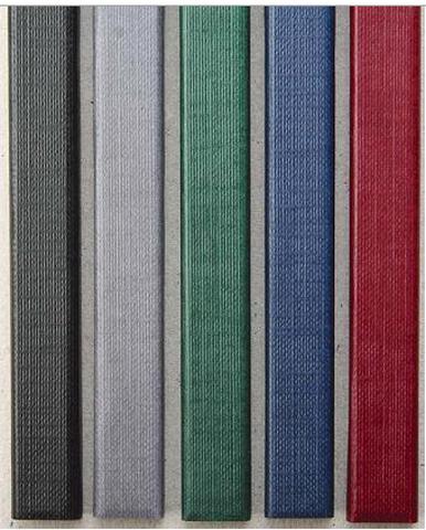 Цветные каналы с покрытием «ткань» O.CHANNEL SLIM А4 304 мм 24 мм, зеленый