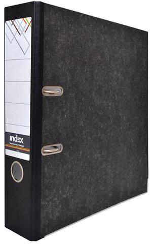 Папка-регистратор Index 80 мм, черный мрамор, разобранная Компания ForOffice 64.000