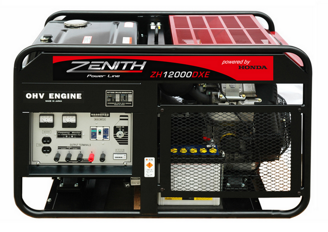 Бензиновый генератор_Zenith ZH12000DXE