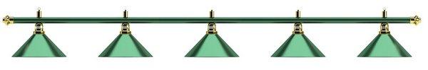 Светильник Allgreen D35 (зеленый, 5 пл.)