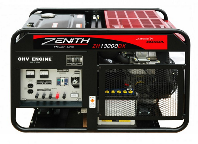 Бензиновый генератор_Zenith ZH13000DXE