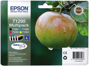 Картридж C13T12954010/C13T12954012 картридж epson c13t10554a10 черный черный пурпурный голубой желтый картридж струйный стандартная
