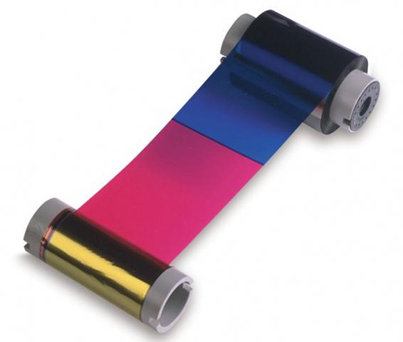 Полноцветная лента и две полимерные чёрные панели Fargo YMCKK 84013
