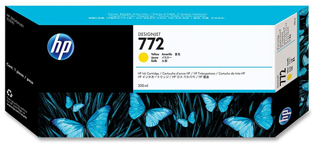 Картридж HP Pigment Ink Cartridge №772 Yellow (желтый)