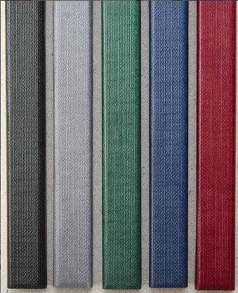 Цветные каналы с покрытием «ткань» O.CHANNEL А4 304 мм 10 мм, зеленые