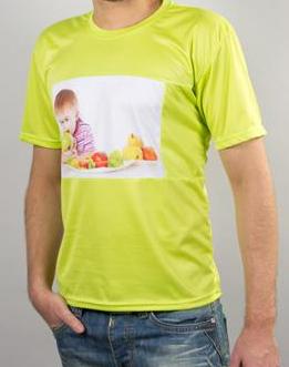 Мужская футболка с полем под сублимацию (зеленая) Компания ForOffice 207.000