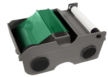 Картридж с лентой и чистящим валиком зеленая лента Fargo 45104
