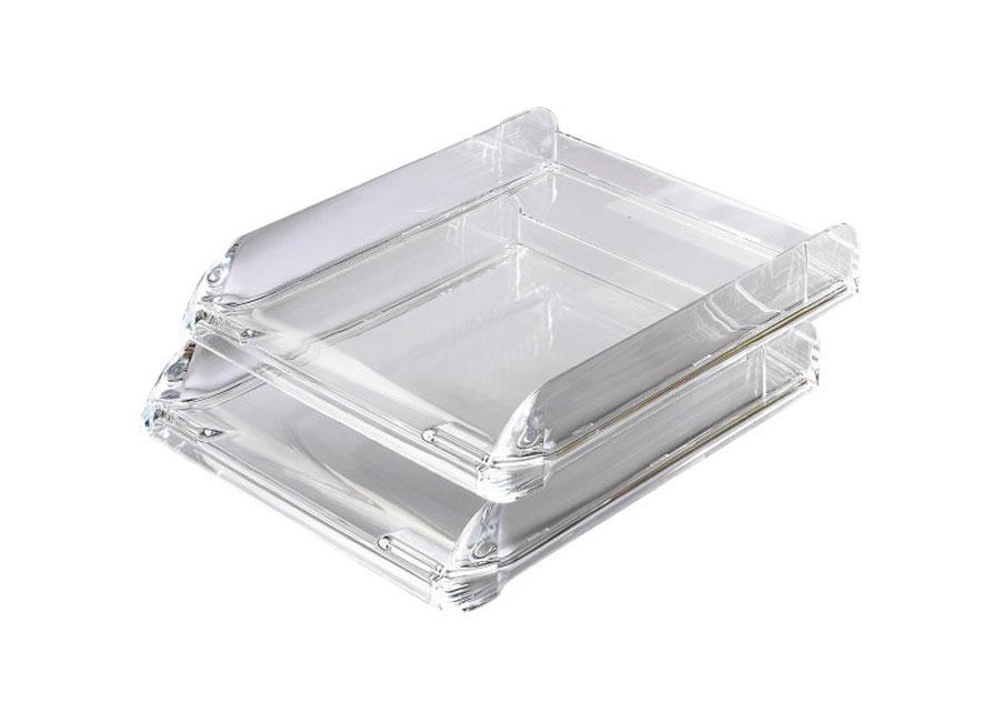 Лоток для бумаги   Nimbus (2101504) акриловый прозрачный от FOROFFICE