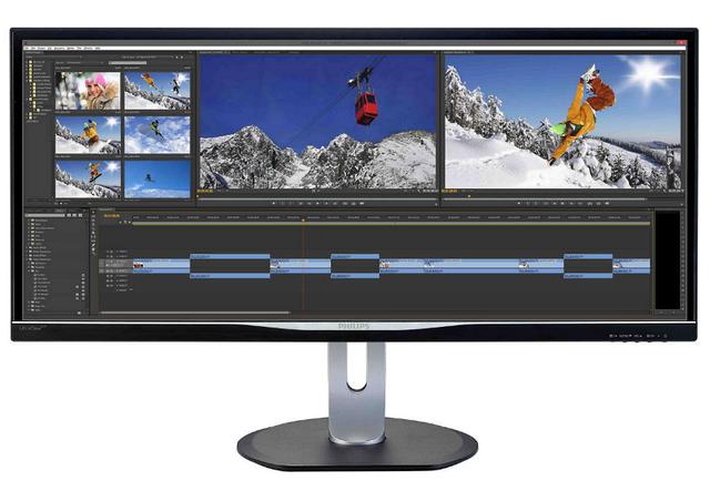 34 Philips BDM3470UP/00 Silver-Black с поворотом экрана монитор philips 275p4vykeb 00 silver black