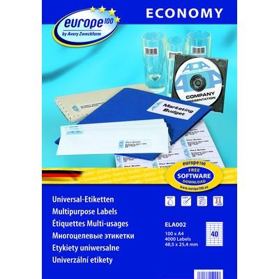 Самоклеящиеся этикетки  Europe100 ELA002 Компания ForOffice 486.000