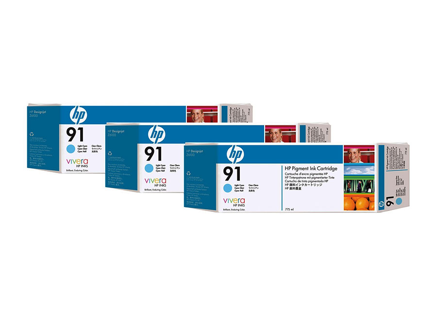 Набор картриджей HP Pigment Ink Cartridge HP 91 Light cyan (C9486A) hot sales 80 printhead for hp80 print head hp for designjet 1000 1000plus 1050 1055 printer