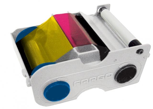 Картридж с лентой и чистящим валиком полноцветная лента Fargo YMCKO 45450
