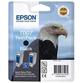 где купить Набор из двух черных картриджей T007 для SP870, 1270 (C13T00740210) по лучшей цене