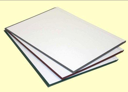 Твердые обложки O.HARD COVER Classic 217x300 мм с покрытием «ткань» без окна альбомные с белым форзацем, черные