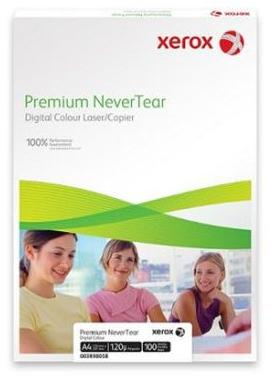 Xerox  Premium Never Tear 003R98043Тип Специальные материалы для печати  <br>Формат SR A3  <br>Плотность 195 г/кв.м / мк. <br>Количество листов 500 лист. <br>Размеры листа/рулона 450х320 мм <br>Вес 18580 грамм<br>