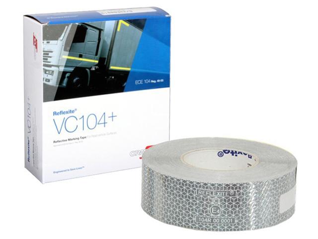 Световозвращающая лента Oralite/Reflexite VC104+ Rigid Grade для жесткого борта, белая 50 м