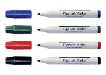 Набор из 4-х разноцветных маркеров Magnetoplan для бумажных блоков, тонкий грифель (1227404)