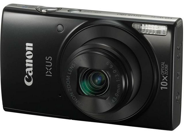 Компактный фотоаппарат Canon IXUS 180 (черный)