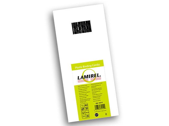 Пластиковая пружина Lamirel, диаметр 38 мм, черная, 25 шт