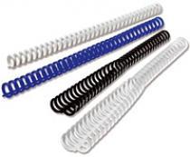 Пластиковые пружины Clicks (ex. Ibiclick), диаметр 16 мм, черные, A4 (297 мм), 50 шт