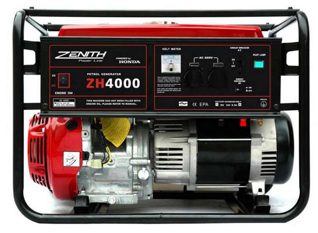 Бензиновый генератор_Zenith ZH4000