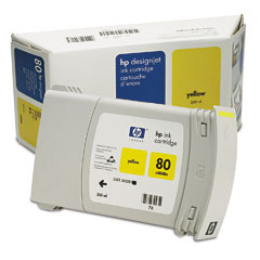 Картридж HP Inkjet Cartridge №80 Yellow (C4848A) картридж hp inkjet cartridge black 51626a