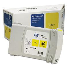 Картридж HP Inkjet Cartridge №80 Yellow (C4848A)