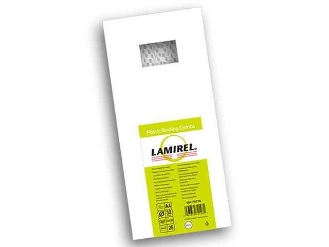 Пластиковая пружина Lamirel, диаметр 32 мм, белая, 25 шт