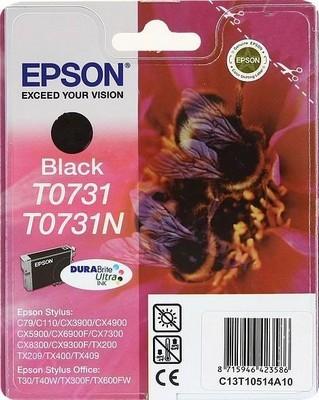 Картридж с черными чернилами T0731 (C13T10514A10) картридж с чернилами bloom 11pcs 73 t0731 t0734 epson stylus c79 c90 c92 c110 cx3900 cx4900 cx4905 cx5600 t0731 t0732 t0733 t0734