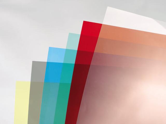 Обложки HiClear, Прозрачный, Красный, А4, 0.18 мм, 100 шт