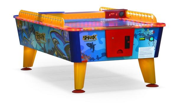 Игровой стол_Аэрохоккей Wik Shark (всепогодный, жетоноприемник)